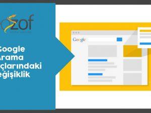 Google Arama Sonuçlarındaki Değişiklik (1)